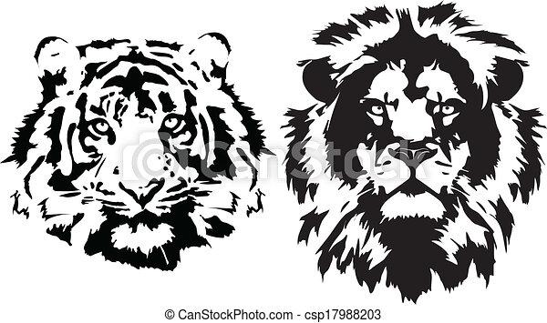Line Art Lion : Illustration lion vector clip art eps images