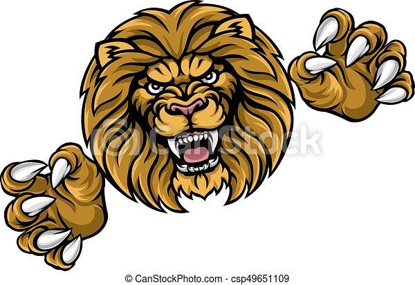 Lion Animal Sports Mascot - csp49651109