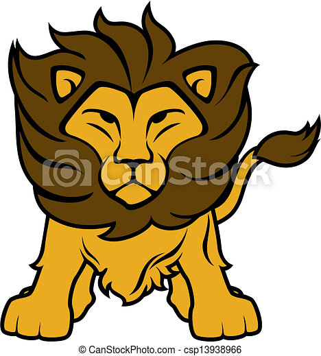 lion clipart illustration of lion front view isolated on clip rh canstockphoto com free lion clipart black and white free clipart lion head