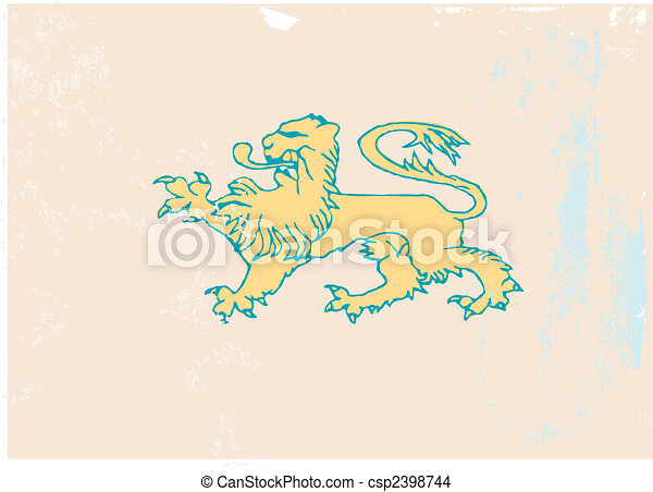 lion coat of arms icon - csp2398744