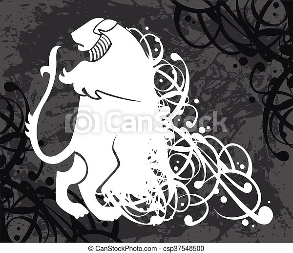 Lion, coat of arms - csp37548500