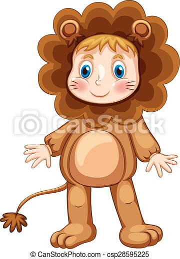 Lion costume - csp28595225