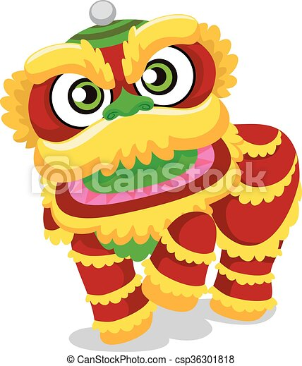 vector illustration of lion dance for chinese new year rh canstockphoto com free chinese new year clipart images