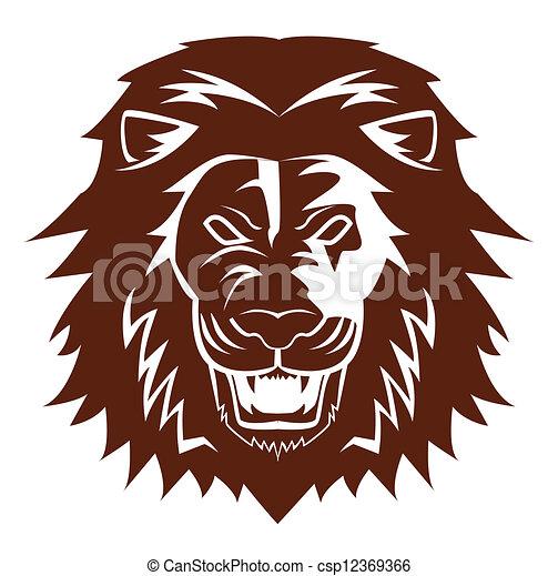 lion emblem - csp12369366