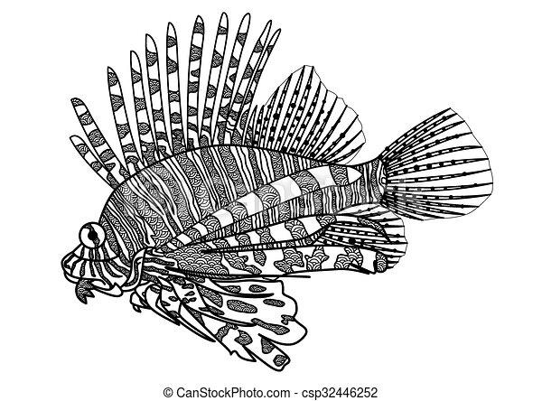 Lion Fish Coloring Page