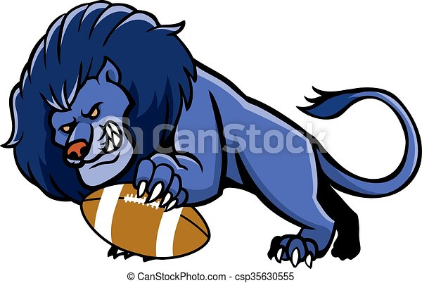vector illustration of lion football mascot clipart vector search rh canstockphoto com