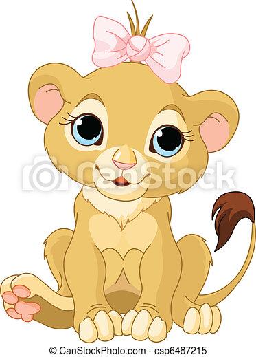 lion girl cub a cute character lion girl cub rh canstockphoto com free lion cub clipart baby lion cub clipart