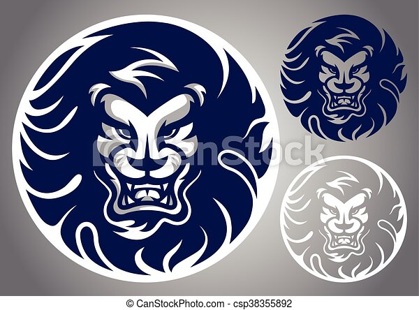 Line Drawing Lion Head : Lion head roaring fang face stock vector hd royalty free