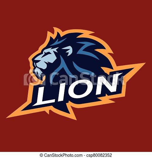 Lion Head Cool Logo Mascot Esport Vector Design Illustration Canstock