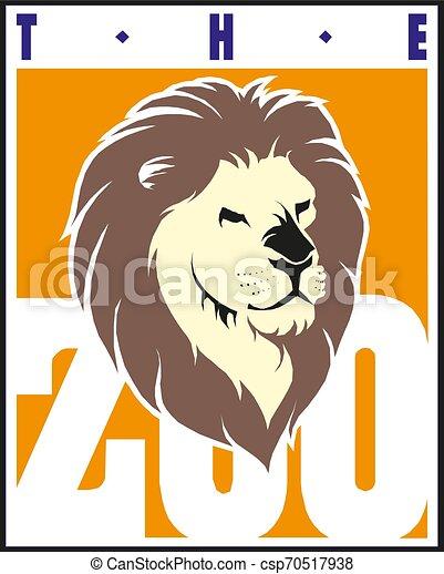 Lion Head, Design Element Vector Illustration - csp70517938