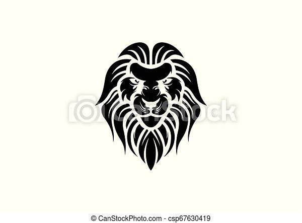 lion head design vector - csp67630419