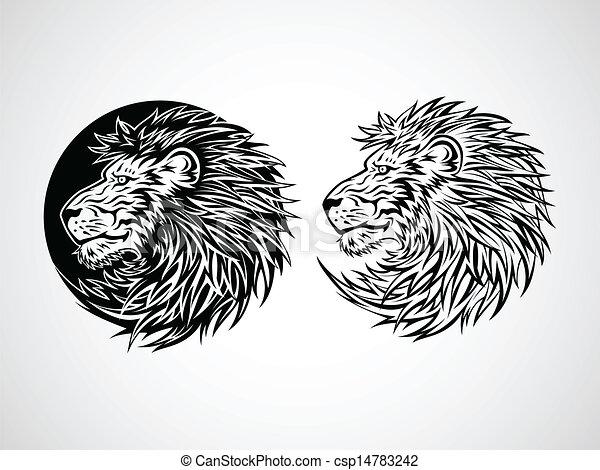 Line Drawing Lion Head : Lion head emblem illustration eps vector search clip art