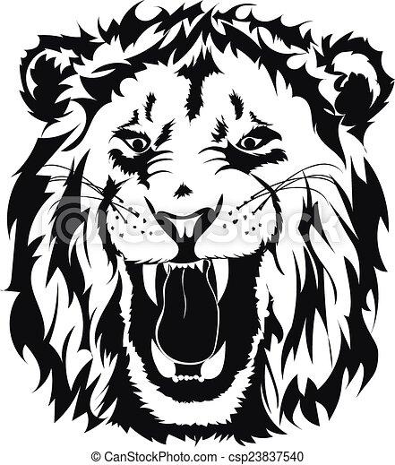 lion head  - csp23837540