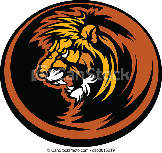 Lion Head Graphic Mascot Illustrati - csp8015219