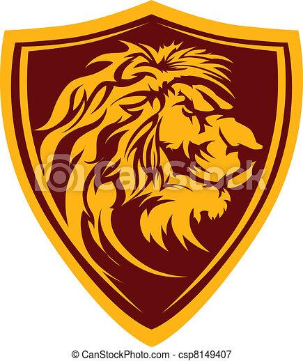 Lion Head Graphic Mascot Illustrati - csp8149407