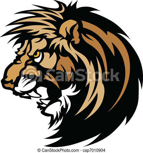Lion Head Graphic Mascot Logo - csp7010904