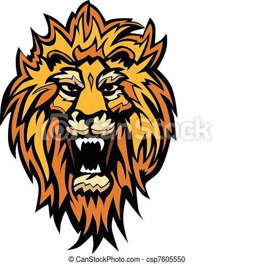 Lion Head Graphic Mascot - csp7605550