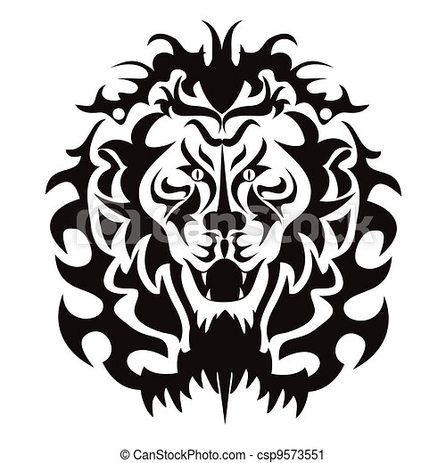 lion head graphic the graphic pattern of lion head vector clip art rh canstockphoto com lion head vector images lion head vector art