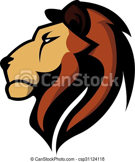 Lion Head illustration design - csp31124118