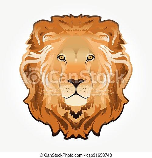 Lion head illustration - csp31653748