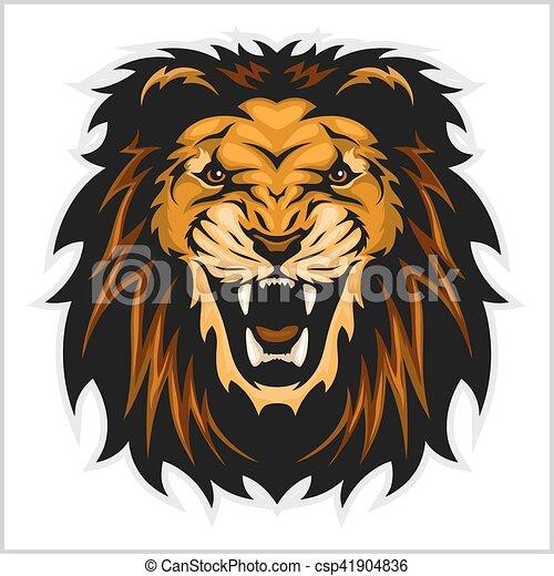 Lion head illustration - csp41904836