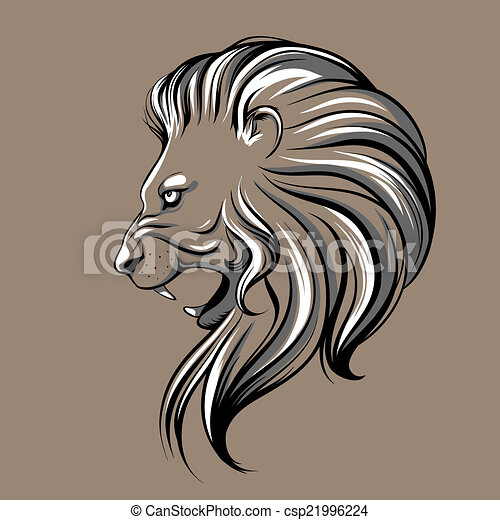 Lion head illustration - csp21996224
