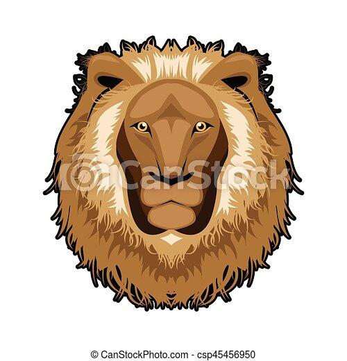Lion head illustration ,vector - csp45456950