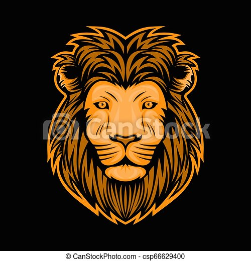 lion head illustration - csp66629400