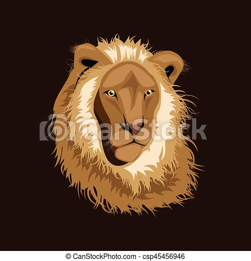 Lion head illustration ,vector - csp45456946