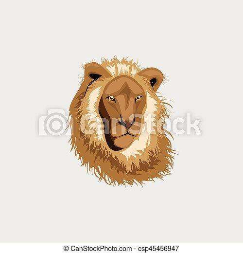 Lion head illustration ,vector - csp45456947