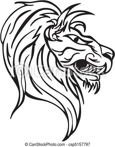Simple lion head clipart - photo#36