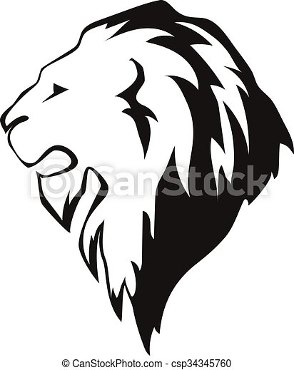 lion head in profile template logo lion s head in profile clip rh canstockphoto com lion head logo template lion head logo png