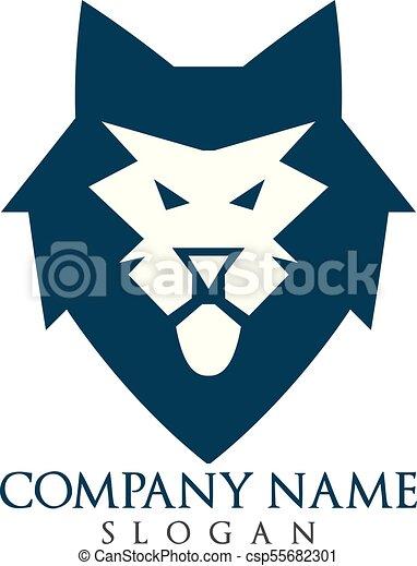 lion head logo design csp55682301