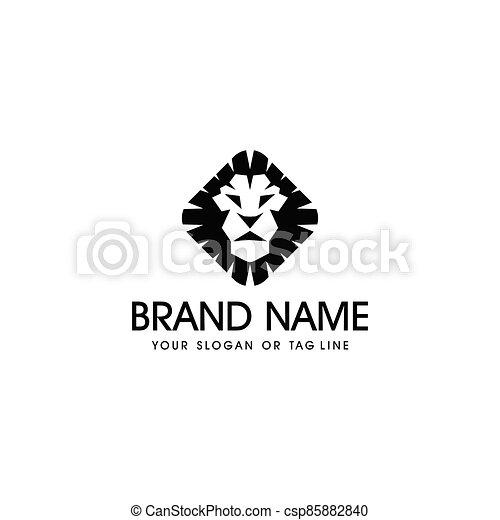 lion head logo design vector - csp85882840