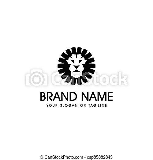 lion head logo design vector - csp85882843