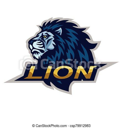 Lion Head Logo Vector Illustration - csp79912983