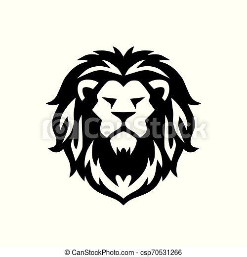 Lion Head Logo Vector Template Illustration Design Icon - csp70531266
