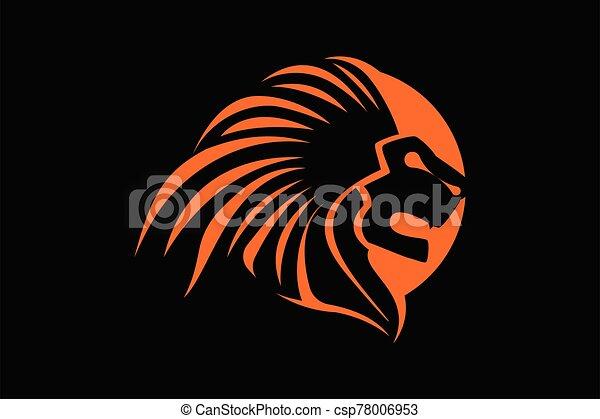 Lion Head Logo Vector Template Illustration Design - csp78006953