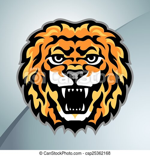 Lion head mascot - csp25362168