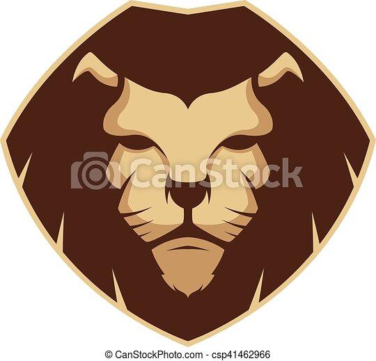 Lion head mascot - csp41462966