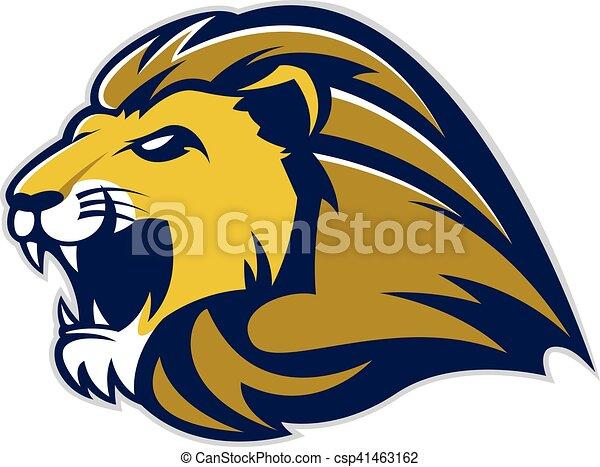 lion head mascot clipart picture of a lion head cartoon mascot logo rh canstockphoto com free lion mascot clipart Lion Logos as Mascots