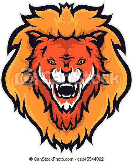 Lion head mascot - csp45544062