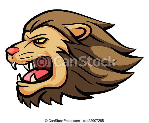 Lion Head Mascot - csp22907285