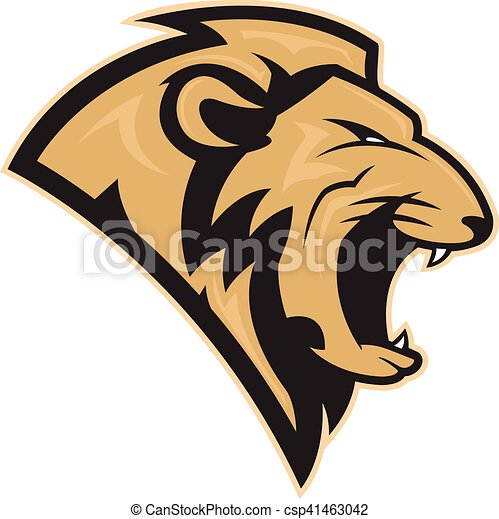 Lion head mascot - csp41463042