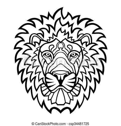 Lion head mascot - csp34481725