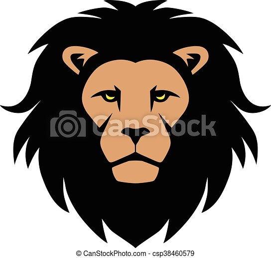 Lion Head Mascot - csp38460579