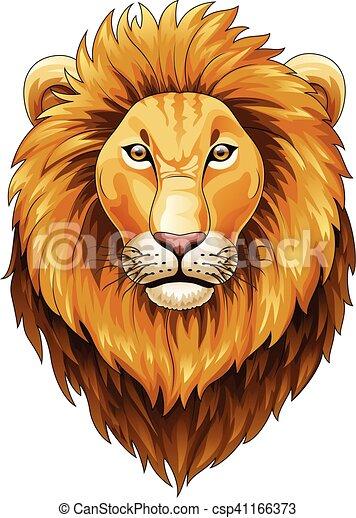 Lion head mascot - csp41166373
