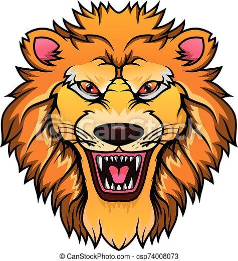lion head mascot - csp74008073