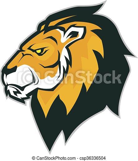 Lion head mascot - csp36336504