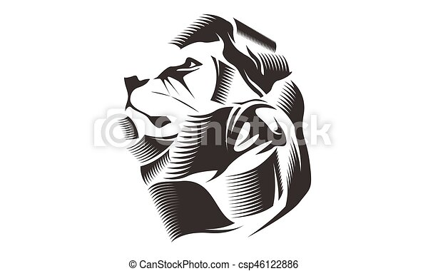 Line Art Lion : Lion head silhouette stock illustration search eps clip art